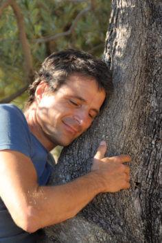 bei einem der uralten Oliven