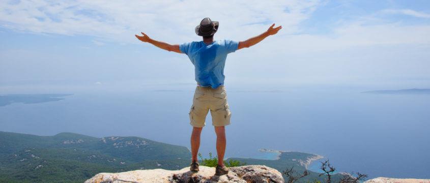 Endlich frei! In Kroatien auf der Insel Cres am Berg Televrin