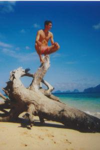 An einem Strand in Thailand
