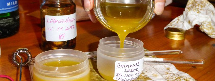 Beinwell-Salbe herstellen